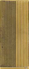 Zierstickerbogen Scrapbooksticker Klebemotiv Aufkleber Linien goldfarben (124)