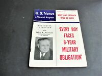 U.S. News and World Report- October 16 ,1953 Magazine- Photos, Illustrations.