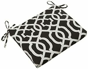 Pillow Perfect Outdoor/Indoor New Geo Square Corner Seat Cushions 18.5 in. L ...