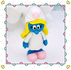 "Sleepy Pajama Slipper Smurfette Smurf Figure PVC Figurine Peyo Jakks 2.5"" 2009❤️"