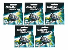 20 X Gillette Mach 3 Blades (5 X Lot de 4) - Véritable Stock