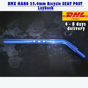 BMX HARO 25.4mm Bicycle SEAT POST Layback Alloy Old School Skyway BLUE EXPRESS S