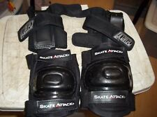 Skate Attack Knee Elbow Pads + Pro Tpc Wrist Guards Inline Skating Ice Hockey