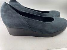 NEW ARCHE France Dark Navy Suede Wedges comfort shoes SZ 39 EUR NWOB