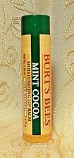 Burt's Bees LIMITED EDITION MINT COCOA 100% Natural Moisturizing Lip Balm Stick