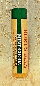 Burt's Bees Mint Cocoa 100% Natural Moisturizing Lip Balm Stick Dry Chapped Skin