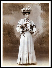 ENGLISH TOY TERRIER BLACK AND TAN LADY AND DOGS VINTAGE STYLE DOG PRINT POSTER