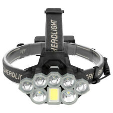 High Power COB+2*T6+5*XPE Headlamp Headlight Flashlight Head Torch Lamp 90000LM