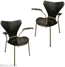 Arne Jacobsen, Paire Fauteuils Vintage 1955,