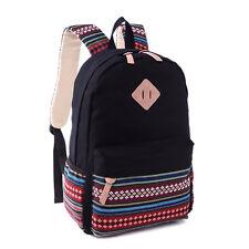Canvas Bag Womens Girls Vintage Backpack School Shoulder College Travel Rucksack