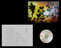 Airbrush Schablone / Step by Step / Stencil / 0573 Fee mit Blätter & Anl. CD
