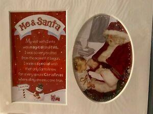 Santa & Me - Photo Frame Mount - 10 x 8 - Christmas - Stocking Filler - Eve Box