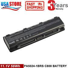 Battery for Toshiba Satellite PA5024U-1BRS C850 C855 C855D C55 L875 PA5109U-1BRS