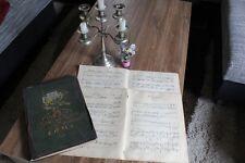 10 sehr alte XXL-Notenblätter Notenschrift Basteln Nostalgie Deko Vintage Chabby