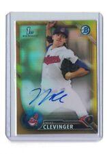 2016 Bowman Chrome Mike Clevinger Auto GOLD  #23/50   Cleveland Indians