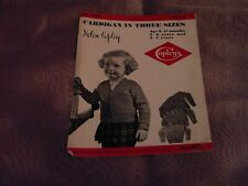 1 VINTAGE COPLEYS KNITTING PATTERN LEAFLET NO. 3078 CHILD'S CARDIGAN 9MTHS/4YRS
