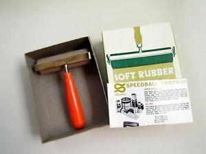 "Printmasters No. 4126 Speedball Soft Rubber No. 64 Brayer 4"" Roller in Box"