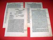 1556 4 BLATT ANTIK HOLZSCHNITT WOODCUT COSMOGRAPHIA FRANCE FRANKFREICH GALLIA