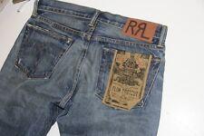 New $300 Ralph Lauren RRL Slim Boot Leg Denim Jeans 28 x 34