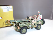 King and Country DD68 US Army Medic Ambulance Military Jeep Vehicle Crew