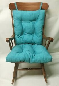 Indoor Outdoor Rocking Chair Glider Cushion Set Over Sized Turquoise Patio