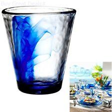 4 Bormioli Rocco Beverage Glasses Set Juice Milk Drink 14.9oz Cobalt Blue