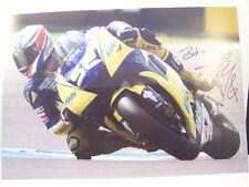 More details for genuine a4 hand signed james toseland (superbike champ) photo card ~uacc member