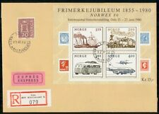 Mayfairstamps Norway Event 1980 Cover Norwex Souvenir Sheet wwk29621