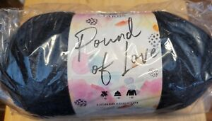 Lion Brand Pound of Love Yarn, Color is Charcoal, 1,020 Yards, NEW