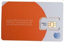 AT&T GoPhone Sim Card Standard 3G 4G LTE SKU 6006A PrePaid Activation