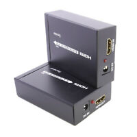 HDMI Extender Over Ethernet Network Lan RJ45 Cat5e Cat6 Single Cable Repeater
