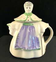 Shawnee Granny Teapot Patented USA Pottery Hand Painted Vintage