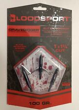 "New Bloodsport Gravedigger Hybrid Mechanical Broadhead 100gr. 1""x1 3/4"""