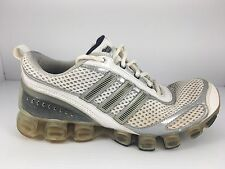 Adidas Bounce Men US 7.5 White + Silver Athletic Trainers Running Shoes