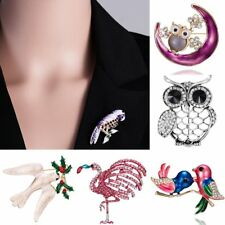 Enamel Parrot Swallow Bird Animals Crystal Brooch Pin Charm Womens Jewellery Hot