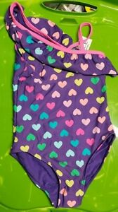 """The Children's Place """"Hearts All Over"""" Girls Swimsuit"""