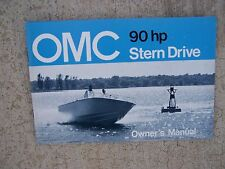 1972 OMC Stern Drive Owner Manual  90 HP  MORE MARINE MANUALS IN OUR STORE  S