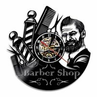 Wall Clocks Barber Shop Salon Watch Decoration Vinyl Record Designed Accessories