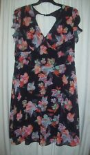 City Chic M black & floral dress - New with tags, no belt