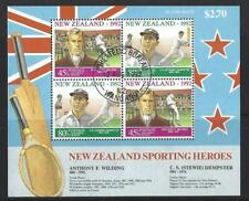 NEW ZEALAND 1992 SPORTING HEROES HEALTH STAMPS MINIATURE SHEET FINE USED