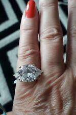 Super Sparkly Elanza Cz 925 Sil Ring Size L/M GLAM AND GLITZ! BNIB TJC