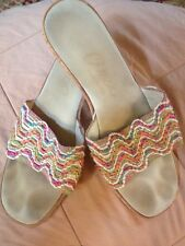 Onex Cork Wedges with multicolored upper sz9