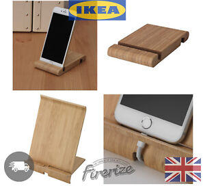 IKEA Phone Tablet Stand Wooden Office Desk Holder Bergenes Sigfinn