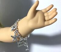 """Mermaid Charm Bracelet for American Girl Dolls 18"""" Doll Jewelry Accessories Fits"""