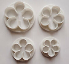 4 Pcs Petal Flower Cutter set cake decorating mold plunger fondant baking tool