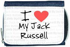 I Love Heart My Jack Russell Denim Wallet