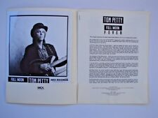 Tom Petty 1989 Full Moon Fever original MCA Promotional Press Kit Jeff Lynne ELO