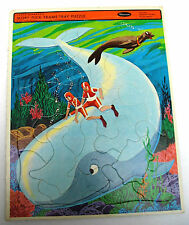 1968 Mighty Mightor Moby Dick Hanna Barbera Whitman Frame Tray Puzzle Complete