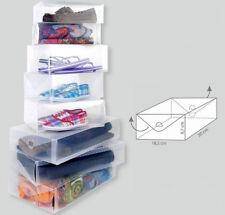 4er Set  Damen Schuhbox transparent | Schuhkarton | Schuhkiste | Box Schuhe
