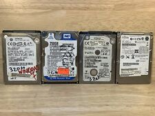 """Lot of 4 Assorted Brands Untested 120GB - 320GB 2.5"""" SATA II HDD Hard Drives"""